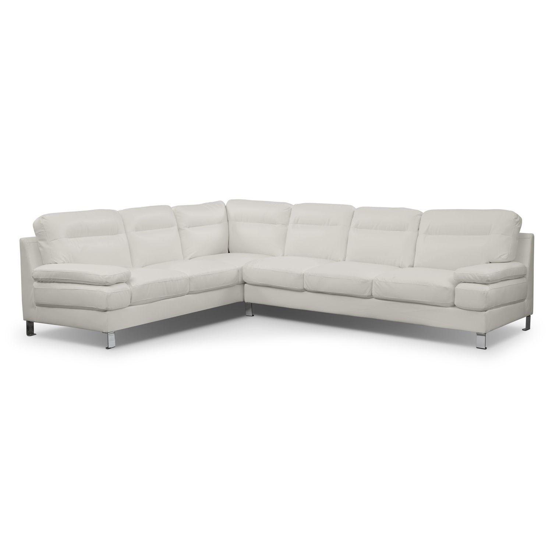 Living room furniture cortina ii 2 pc sectional