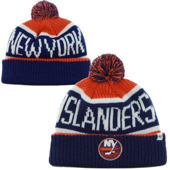 3422229c07e Mens New York Islanders  47 Brand Royal Blue Calgary Cuffed Knit Beanie New  York Islanders