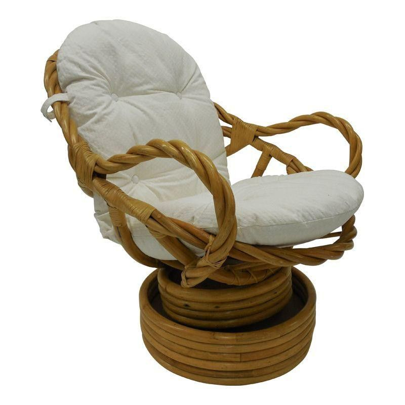 Vintage Bamboo Rattan Swivel Rocking Chair I Remember Way Back