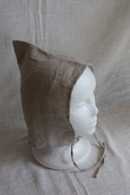 Hand Sewn Natural Linen Viking Jorvik Cap Women s Norse Hat.  40.00 ... 31ea5a689