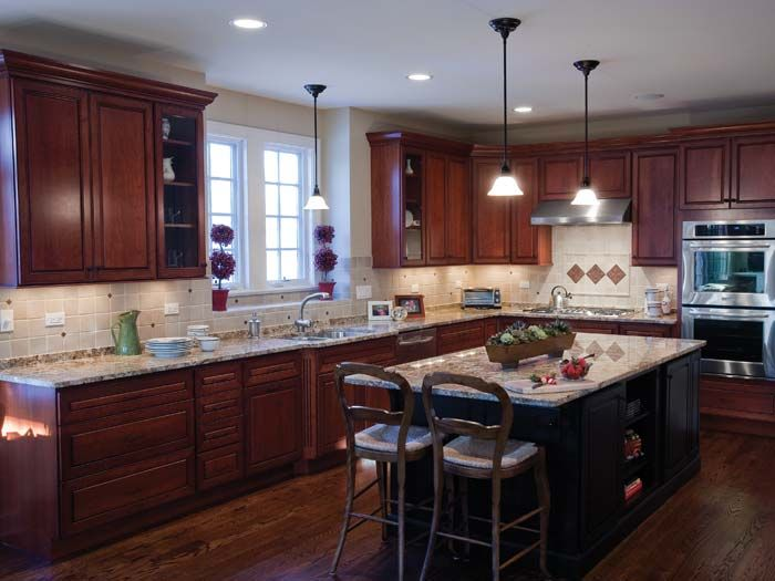 Bertch Manf Waterloo Ia Legacy Division Wall Cabinets 30 H Varied Depths Cocoa Painted I Semi Custom Kitchen Cabinets Kitchen Furnishings Bertch Cabinets