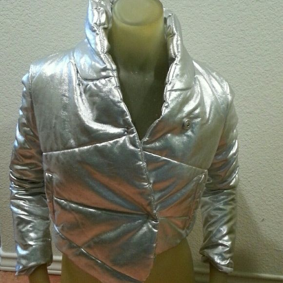 I just discovered this while shopping on Poshmark: Happy Atomic Womens Silver Jacket XS Size 1NWT. Check it out! Price: $55 Size: XS, listed by screamfamous