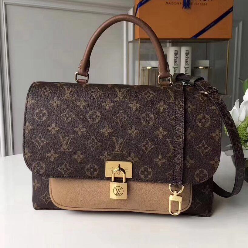 Louis Vuitton Monogram Canvas Leather Marignan Messenger Bag M44257 Sesame Louis Vuitton Louis Vuitton Handbags Louis Vuitton Bag