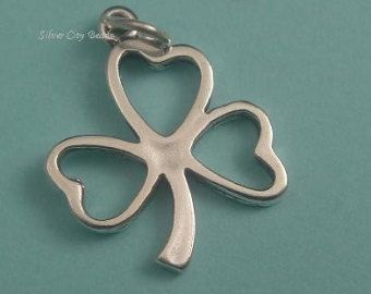 Popular items for silver lucky charm on Etsy