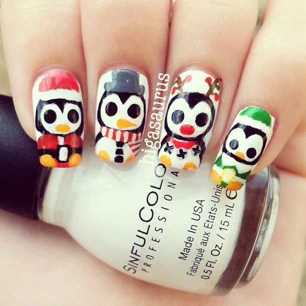 Penguin Nail Art Designs: @higasaurus - #statigram Penguins