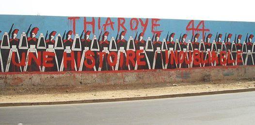 Vendredi 1er Décembre 1944 : Le massacre de Thiaroye, au Sénégal. Les tirailleurs sénégalais de l'armée française manifestent pour que leur soient payés leurs arriérés de solde et leur prime de démobilisation. 35 tirailleurs sont tués, 35 gravement blessés et 34 lourdement condamnés.