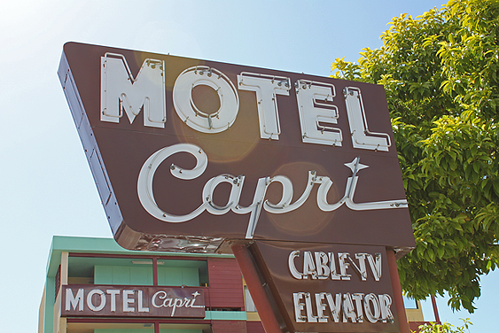 photographic print motel capri on greenwich street in marina rh pinterest com