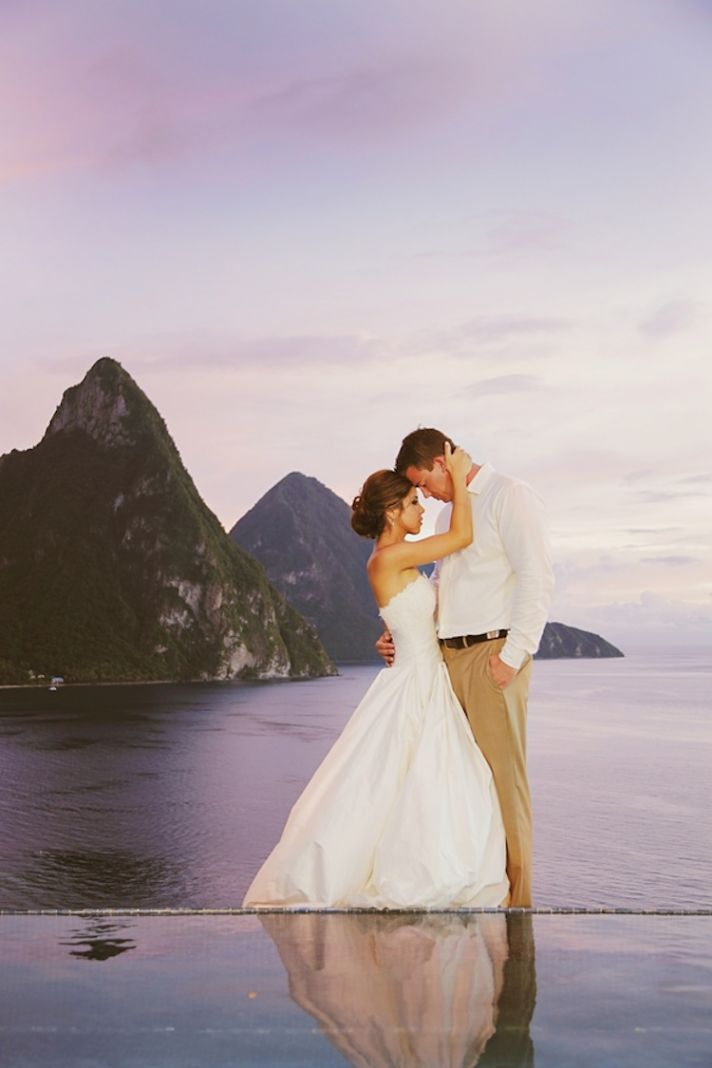 Destination Wedding Romance And Revelry In St Lucia Onewed