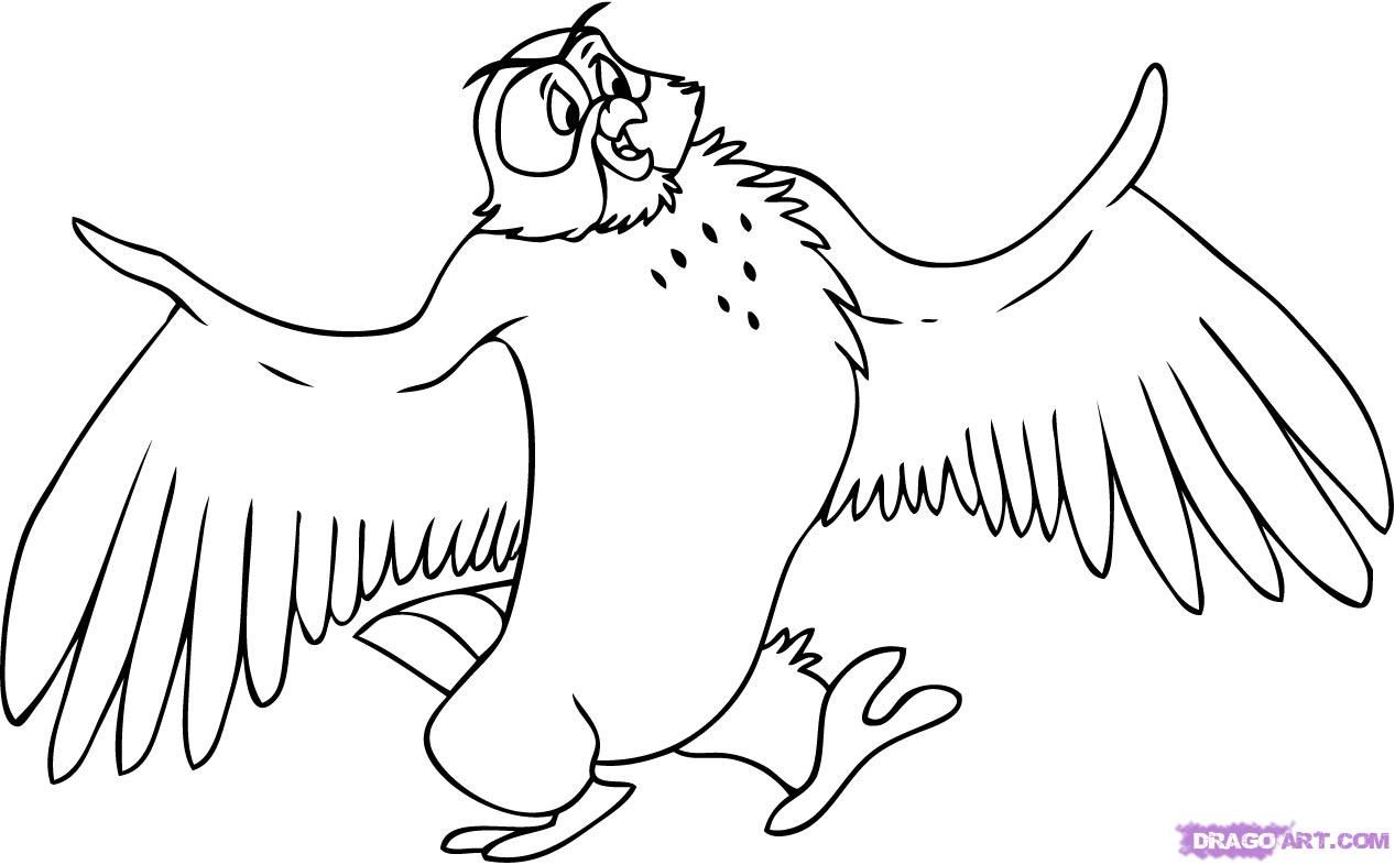 winnie the pooh owl coloring pages Butterflys Owls to