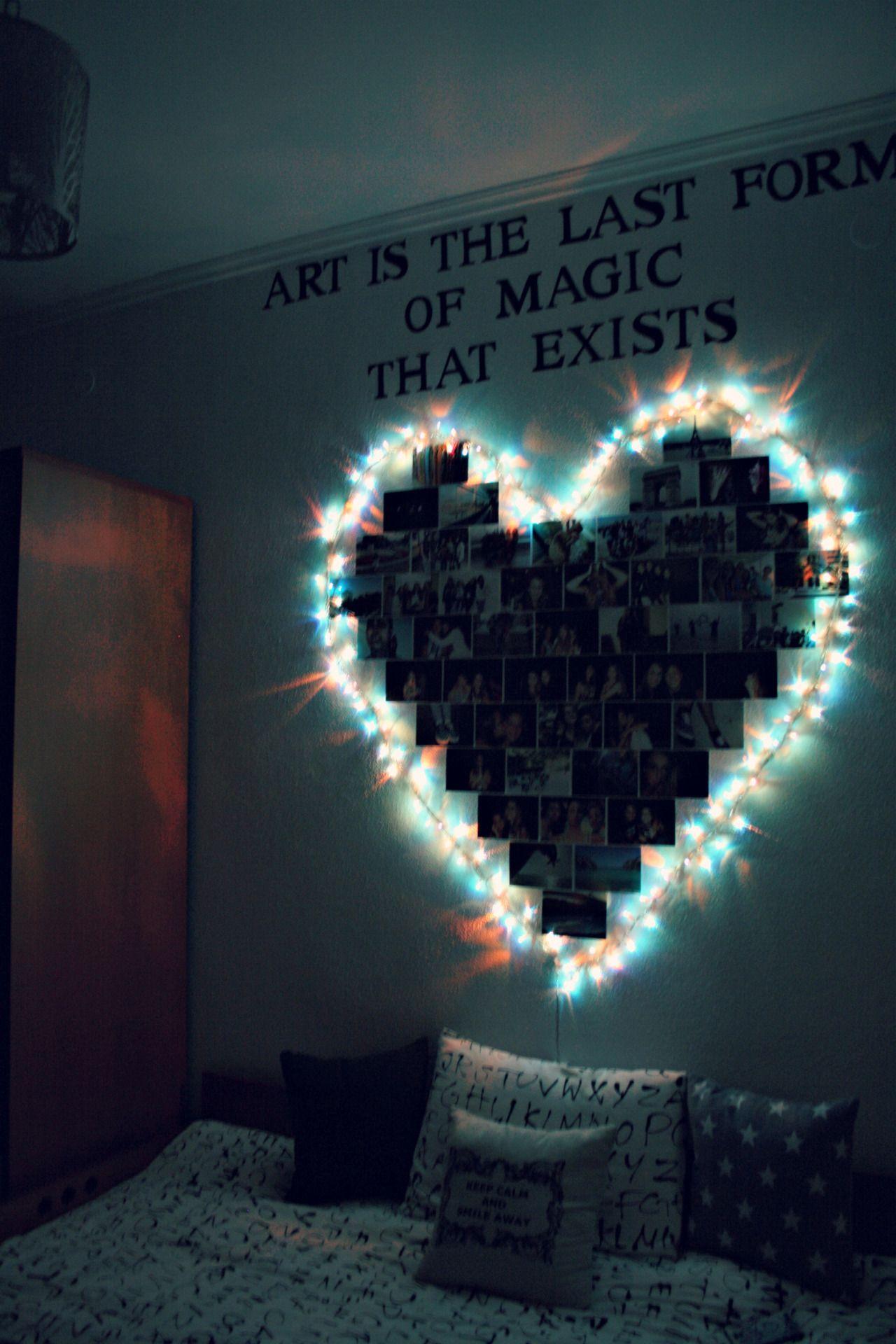 photos and christmas light ideas for room decoration | Art Craft ...