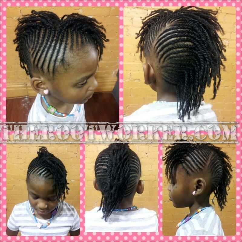 Awe Inspiring 1000 Images About Kids Hairstyles On Pinterest Cornrows Flat Hairstyle Inspiration Daily Dogsangcom