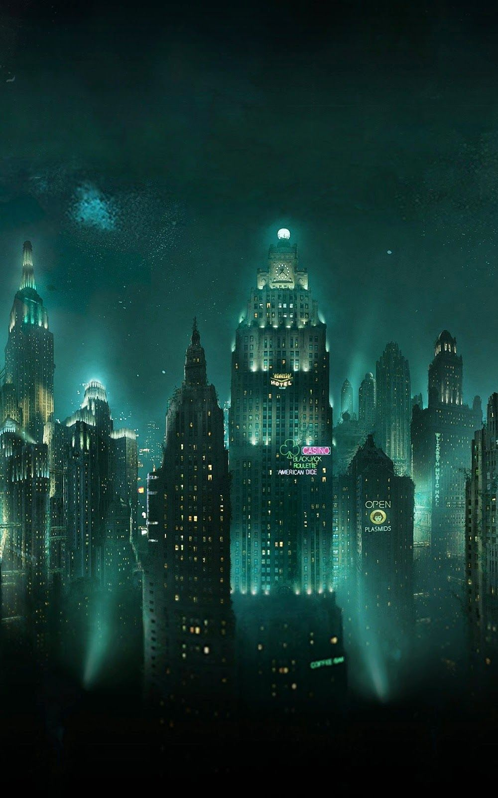 Pemandangan Kota Di Malam Hari Android Wallpaper Arsitektur