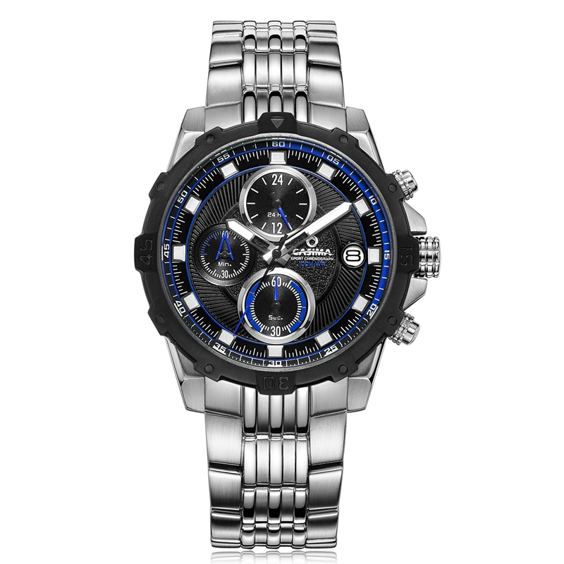 55.97$  Buy here -  Fashion Luxury brand watches men Fashion casual charm chronograph cool sport mens quartz wrist watch waterproof 100mCASIMA 8306   #shopstyle