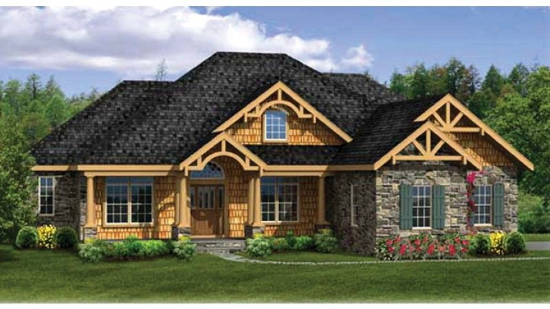Craftsman style ranch with front porch