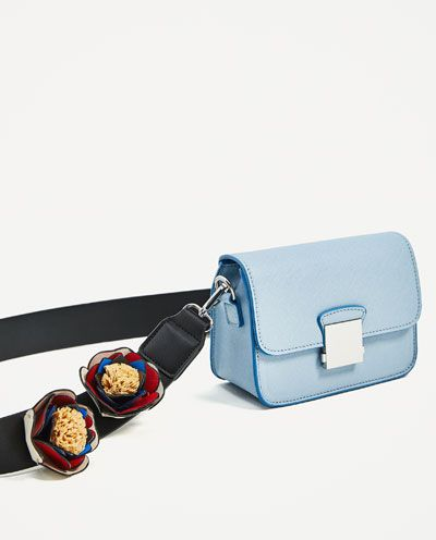 436b8034b0 CROSSBODY BAG WITH FLORAL STRAP-View all-BAGS-WOMAN | ZARA France ...