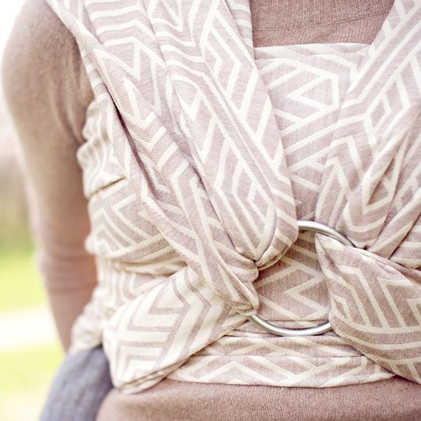 Blossom Geo Merino Wrap by Woven Wings