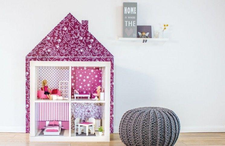 Ikea-Regale-Kallax-Puppenhaus-Tapeten-Kinderzimmer | barbie ...