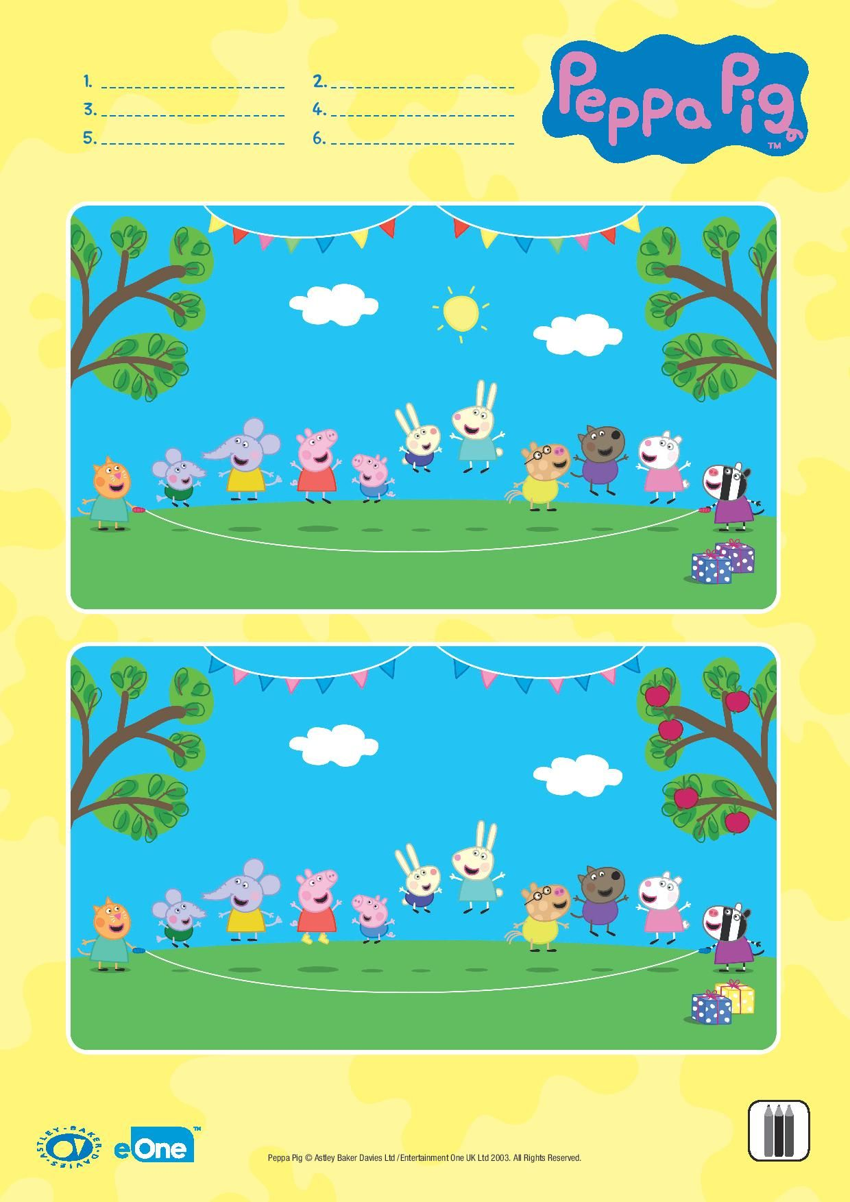 Help Your Little One Spot All The Differences In This Oinktastic Game Peppa Pig Birthday Party Peppa Pig Party Peppa Pig Birthday [ 1754 x 1240 Pixel ]