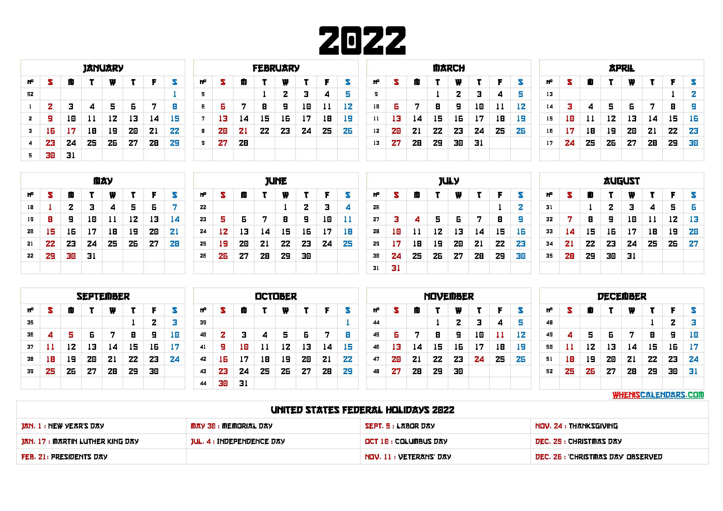 20+ 2022 Calendar - Free Download Printable Calendar ...