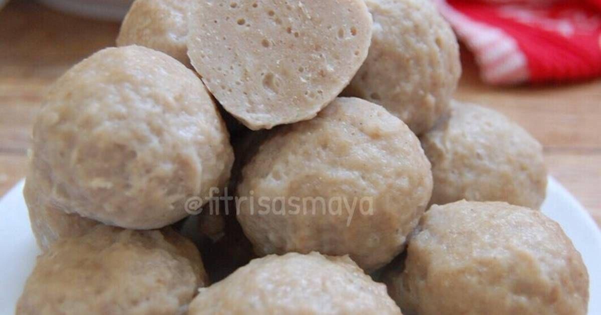 Resep Bakso Kenyal Banget Pakai Daging Sapi Ayam Oleh Fitri Sasmaya Resep Makanan Resep Daging Sapi