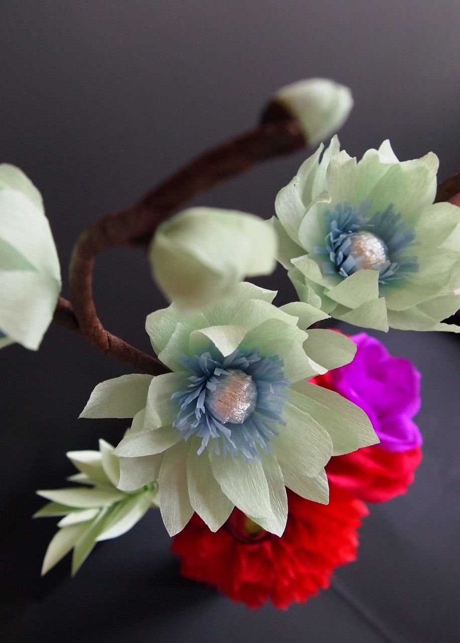 Unique Crepe Paper Flowers Handmade By Amelis Lovely Creations