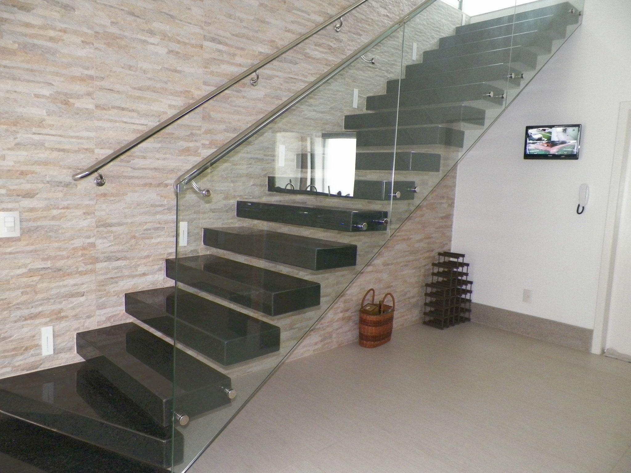 Well-known escada corrimão vidro - Pesquisa Google | Ideias para a casa  UP24