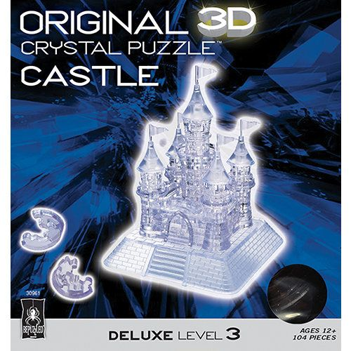 Castle 3d Crystal 104 Piece Puzzle Crystals 3d Crystal Puzzle