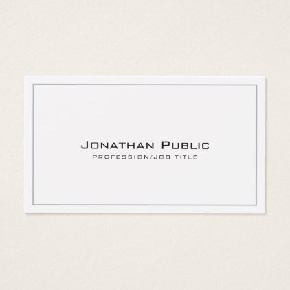 Create your own design modern elegant plain business card reheart Image collections