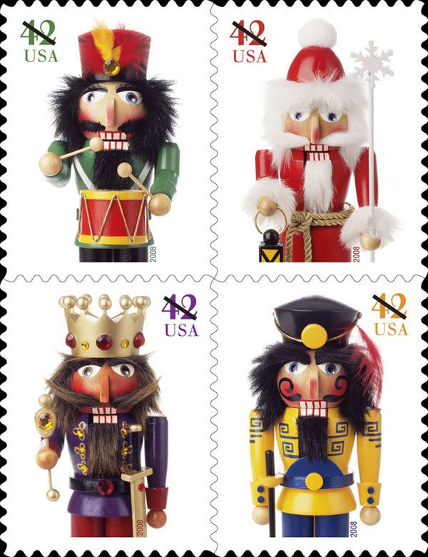 Set Of 4 Nutcrackers U S Postage Stamps Stamp Postage