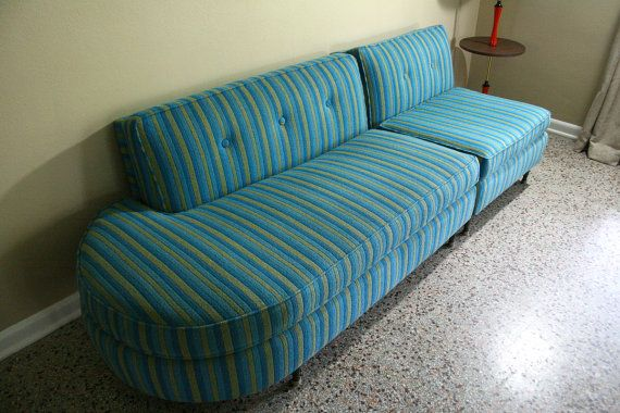 Mid Century Retro Sectional Sofa 1950s by RetroTherapyRehab
