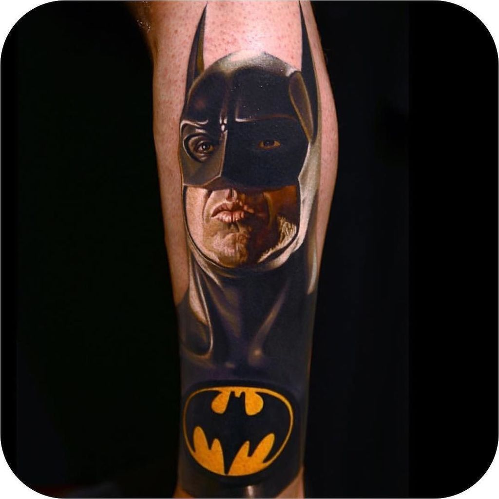 Flaming art tattoo for geek tattoo lovers this kind of batman - Batman Tattoo By Nikko Hurtado