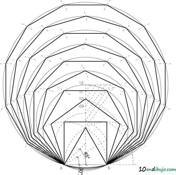 Los polígonos regulares dado el lado: siempre pueden caer