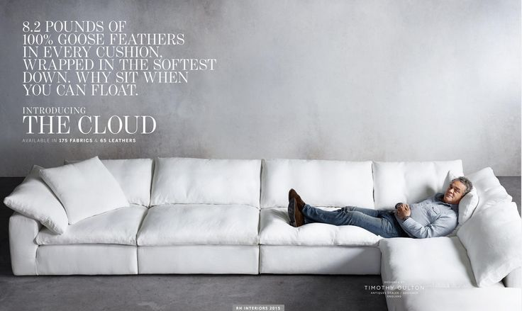 restoration hardware the cloud sectional sofa hands comfortable couch world leather furniture for sale covers by