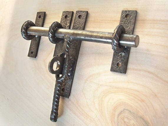 Industrial hand forged barn door latch for craft supplies & Industrial hand forged barn door latch for craft supplies | forged ...