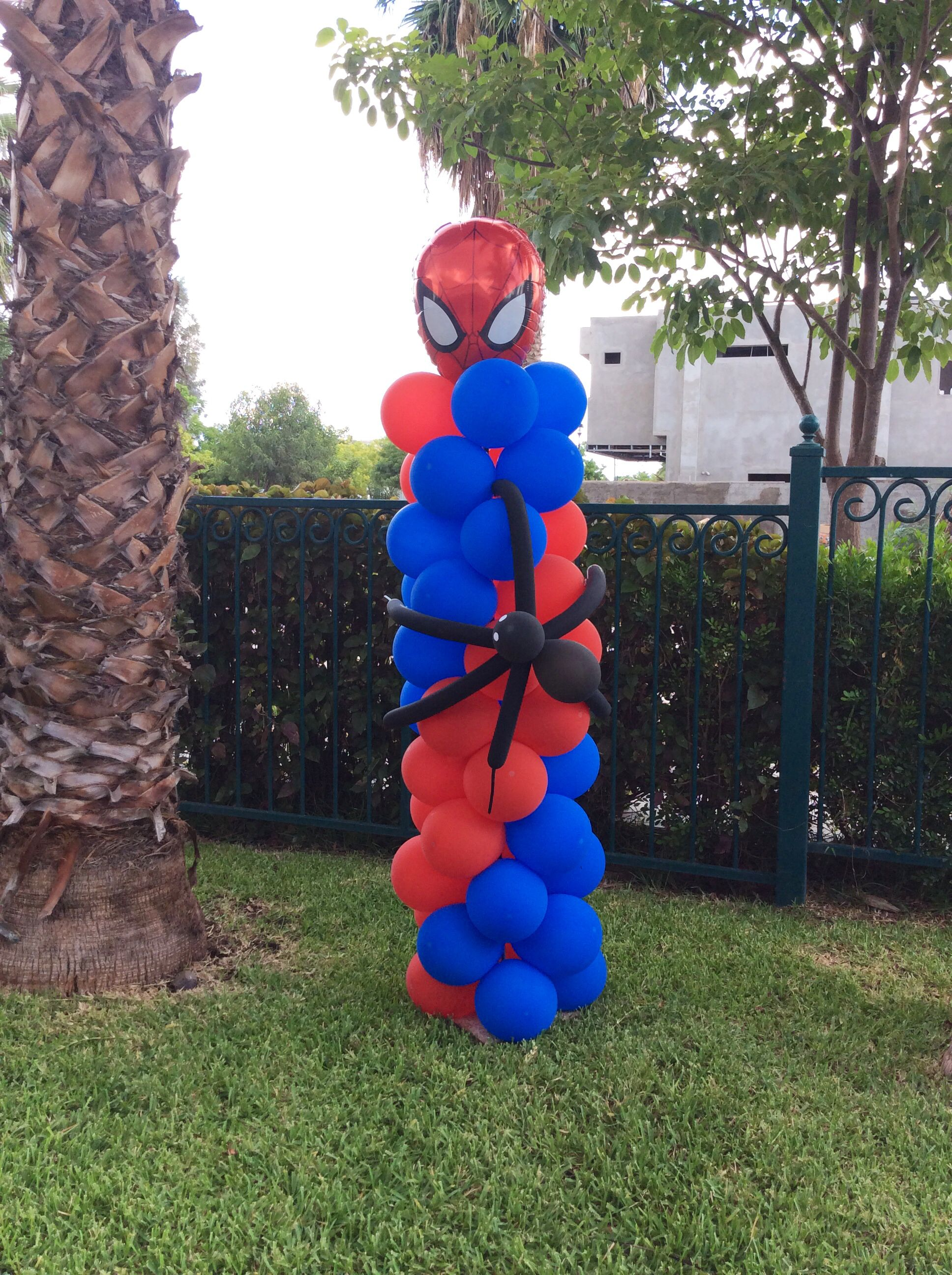 Pilar de spiderman por decoraci n eventos norma - Decoracion de aranas ...