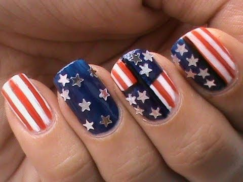 4th Of July Nails Design Usa Flag 4th July Easy Nail Designs