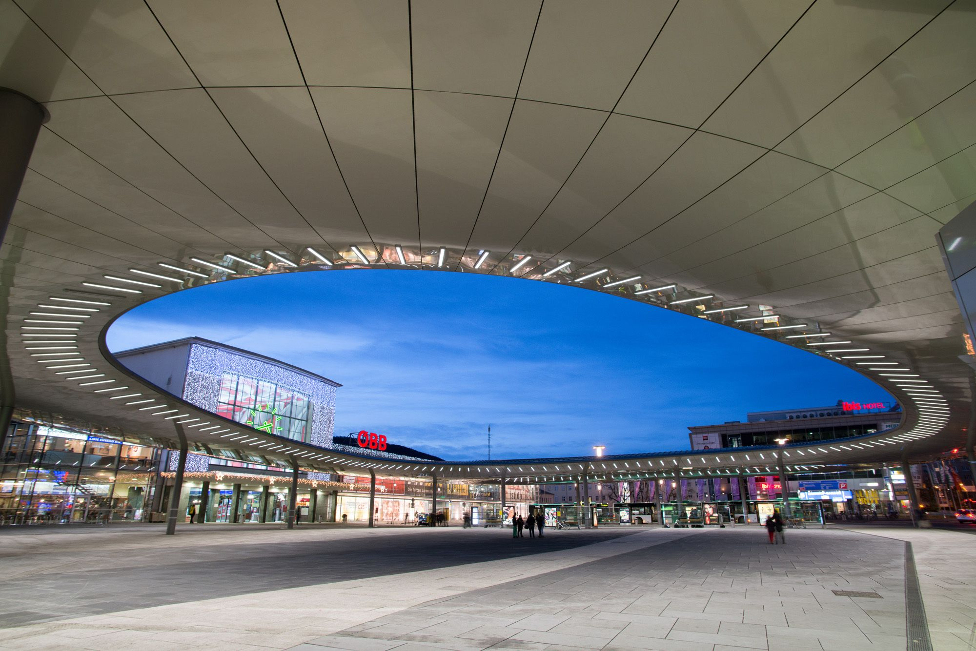 Bus terminal in Graz, Austria