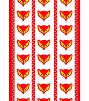 Vallila Kettukarkki-sivuverho, punainen