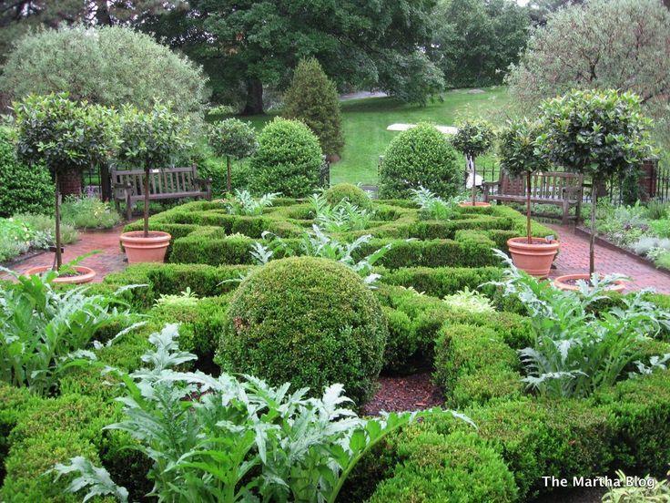 Knot garden utilizing artichokes Landscaping Pinterest