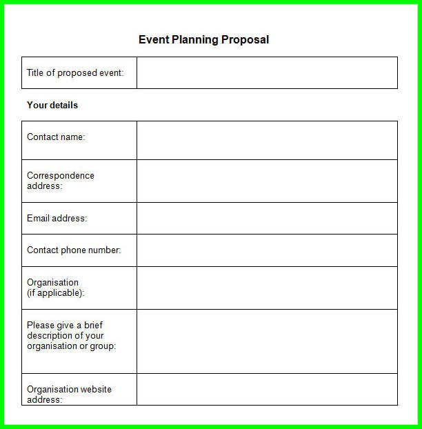 Event Proposal Template Doc Event Proposal Template Free Word Excel - event proposal template word