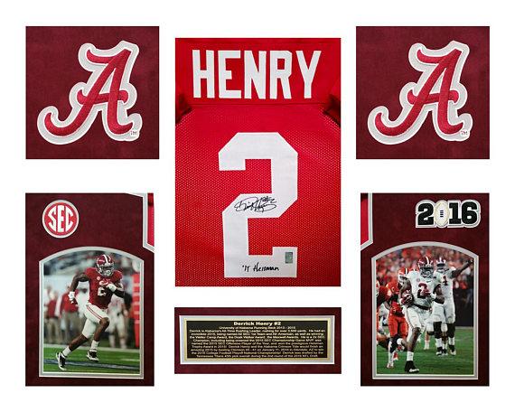 timeless design a45b0 7fd69 Derrick Henry Alabama Crimson Tide Autographed / Hand Signed ...