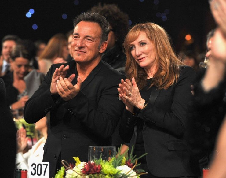 Bruce Springsteen And Wife Patti Scialfa At The 2013