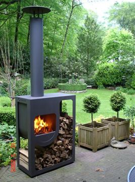 Gartenkamin Faltovn Grillkamin Aussenkamin Feuerschale Holzlager Outdoor Wood Burner Outdoor Fire Outdoor Fire Pit
