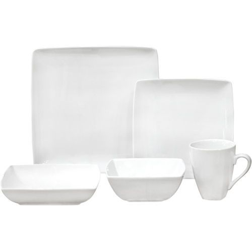Over and Back Central Park 20-piece White Porcelain Dinnerware Set ...