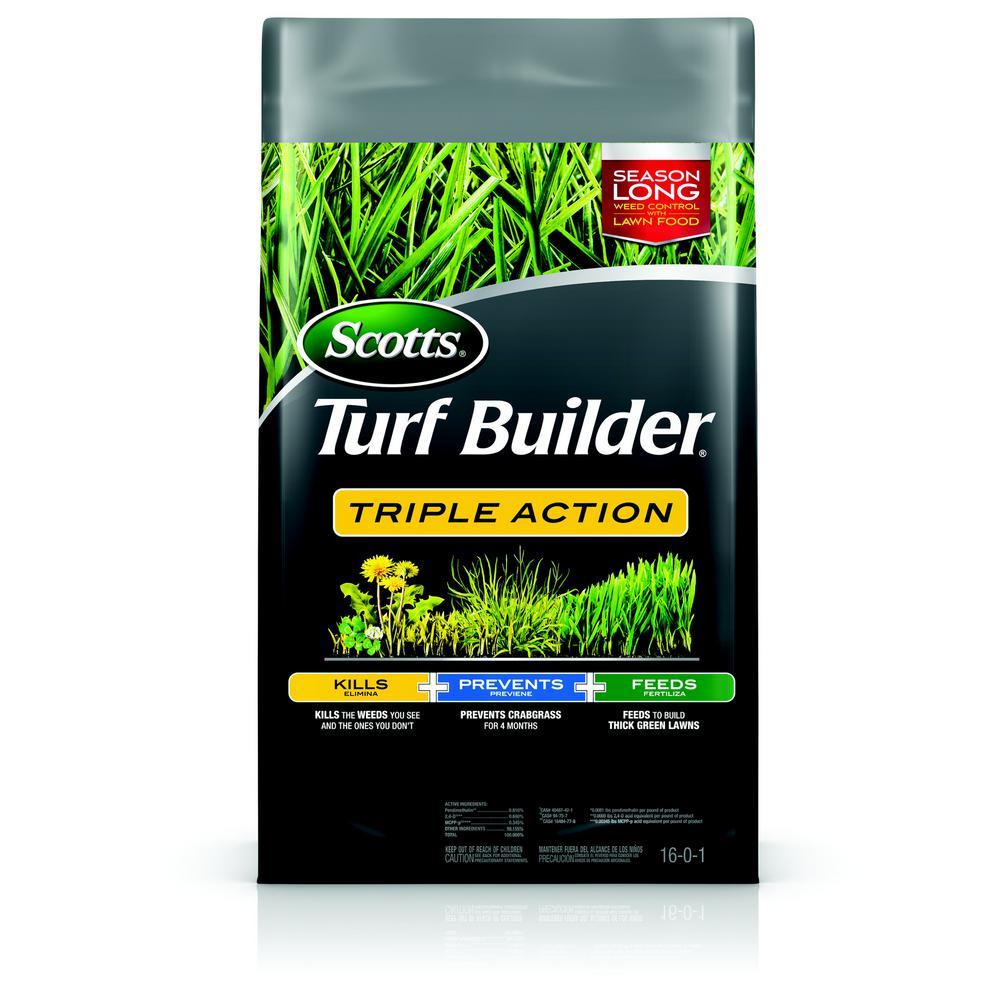 Scotts Turf Builder 20 07 Lb 4 000 Sq Ft Triple Action Lawn Fertilizer 26003a1 The Home Depot Turf Builder Lawn Fertilizer Scott Lawn Care