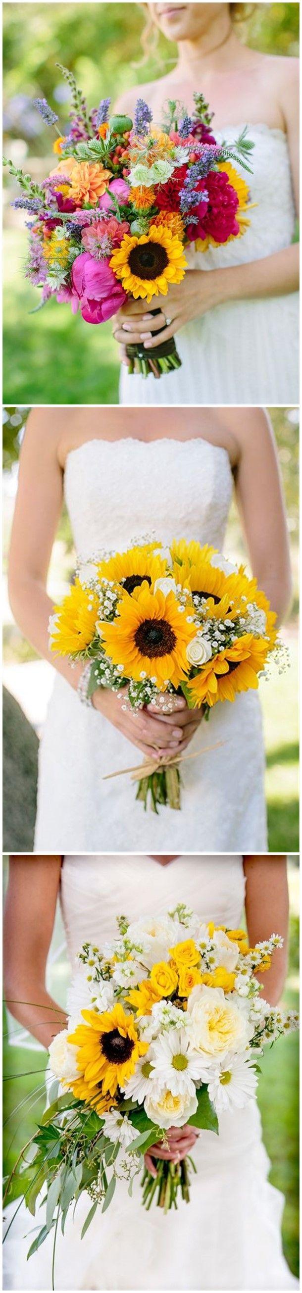 Wedding ideas for summer   Perfect Sunflower Wedding Bouquet Ideas for Summer Wedding