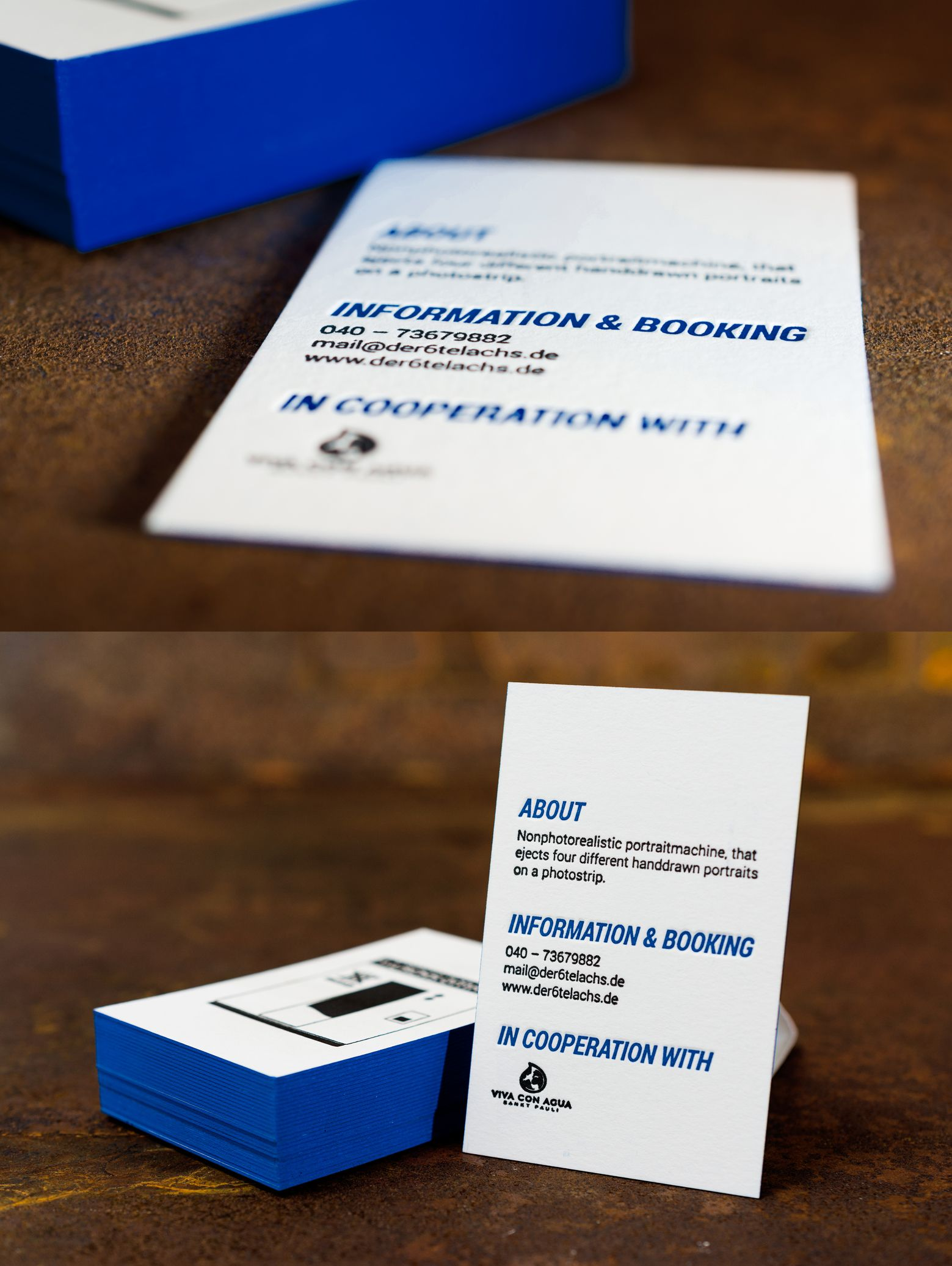 Business Card Letterpress With Edge Painted Der6telachs