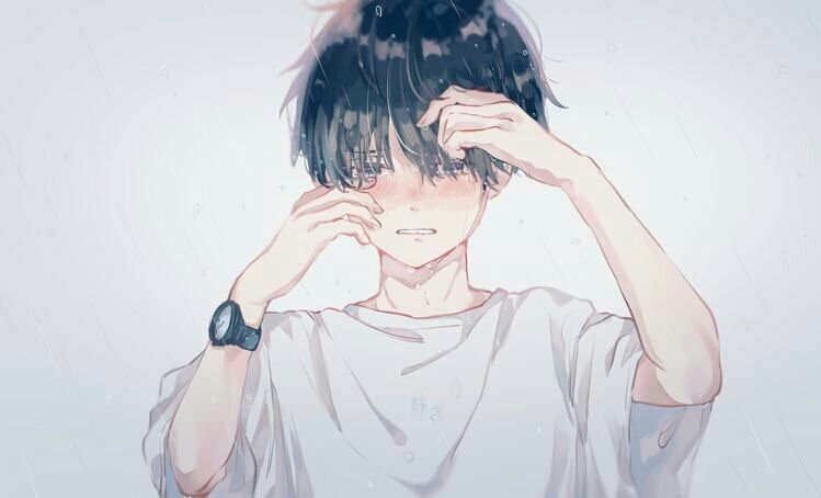 اجمل صور الانمي Anime Boy Crying Anime Crying Anime Drawings Boy
