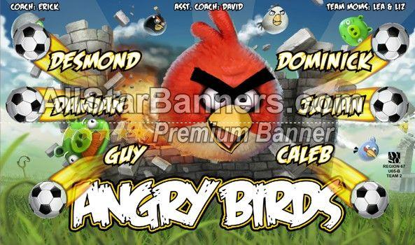 angry birds soccer banner idea from allstarbanners com we do soccer