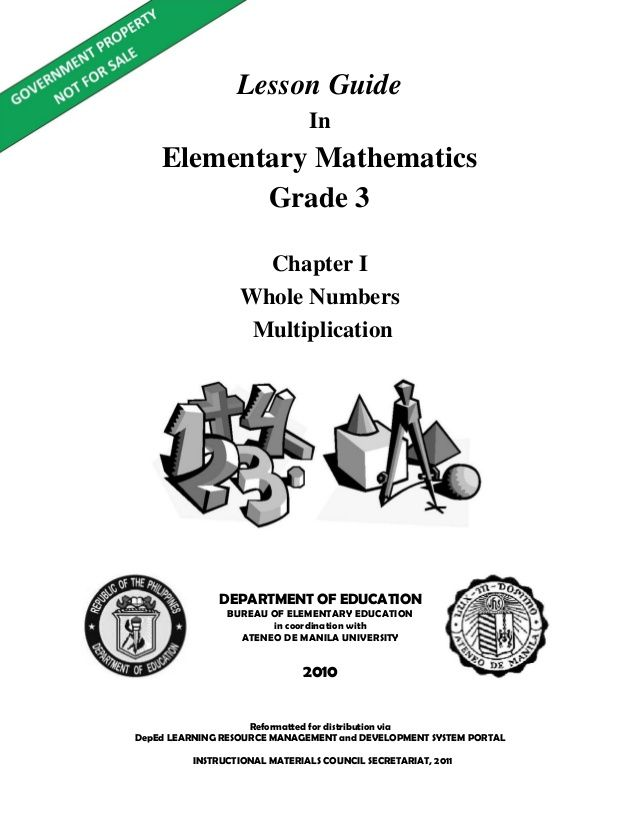 Lesson Guide In Elementary Mathematics Grade 3 Reformatted For